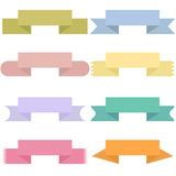 Modern colored ribbons and banners for your text Royalty Free Stock Image