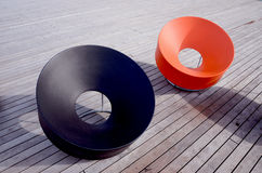 Modern colored seats. Royalty Free Stock Images