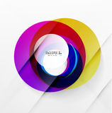 Modern colorful abstract circles Stock Images