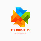 Modern colorful abstract  icon design logo element. Best for identity and logotypes. Stock Photos