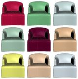 Modern Colorful Armchairs Vector 16 Stock Image