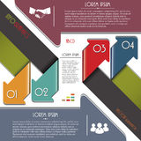 Modern Colorful Arrows For Infographics Template. Stock Photos