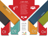 Modern colorful arrows for Infographics template. Royalty Free Stock Image