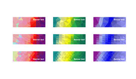 Modern colorful banners Royalty Free Stock Photo