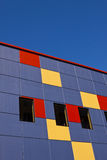 Modern Colorful Building. Modern Building with colored squares royalty free stock photo