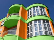 Modern colorful building. This picture made more colorful by PS Stock Image