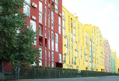 Modern colorful buildings. The Modern a colorful buildings Stock Photo