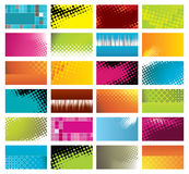 Modern, colorful business cards Stock Photo