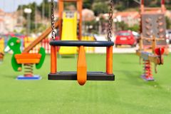 Modern colorful children playground Stock Images