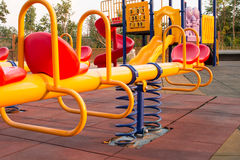 Modern colorful children playground in public park Royalty Free Stock Image