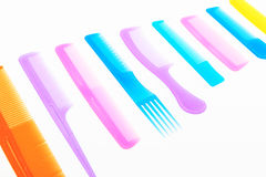 Modern colorful comb Royalty Free Stock Image
