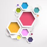 Modern colorful design. Colors hexagon Stock Photo