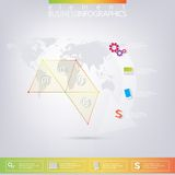 Modern colorful design triangles infographic with Stock Images