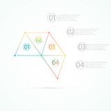 Modern colorful design triangles infographic with place for your text. Can be used for web design, business presentation, diagram, Royalty Free Stock Photo