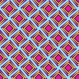 Modern colorful diamonds repeating pattern. Modern diamonds repeating pattern golden yellow and pink with 3D appearance for textile, fabric, backdrops stock illustration