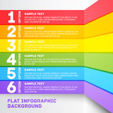 Modern colorful flat designed option template. For Royalty Free Stock Image
