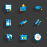 Modern colorful flat social icons set Royalty Free Stock Photography