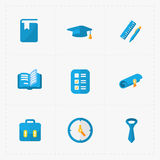 Modern colorful flat social icons. Set on White Stock Photography