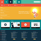 Modern Colorful Flat Website Template EPS 10 Vector illustration Stock Image