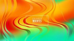 Modern colorful flow poster. Wave Liquid shape in blue color background. Art design. Vector illustration. royalty free illustration