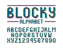 The modern colorful font royalty free illustration
