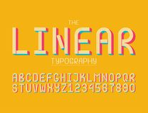 The modern colorful font stock illustration