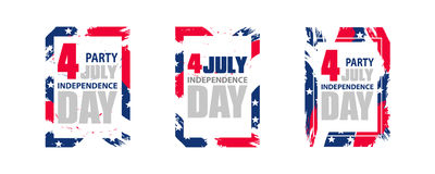 Modern colorful frame for independence day USA 4th july. Dynamic. Design elements for a flyer, sale, brochures, presentations, party etc. Vector illustration Royalty Free Stock Photography