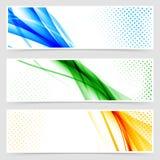 Modern colorful futuristic hi-tech header set Royalty Free Stock Photos