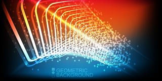Modern colorful geometric backgrounds collection. Collection of modern colorful geometric wide backgrounds Royalty Free Stock Images