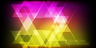 Modern colorful geometric backgrounds collection. Collection of modern colorful geometric wide backgrounds Stock Photo
