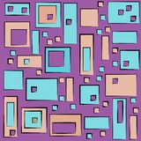 Modern colorful geometric pattern in square and rectangular style. Rectangles and squares on abstract background with colorful palette. Colorful bright vector stock illustration