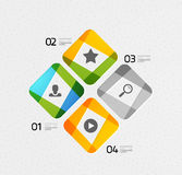 Modern colorful geometrical infographic Stock Photography