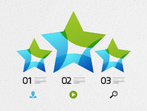 Modern colorful geometrical infographic Stock Images