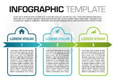 Modern colorful infographics options template vector with blue rectangle and dotted map.  stock illustration