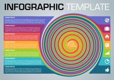Modern colorful infographics options template vector with swirl colorful rectangle on grey background