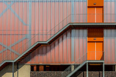 Modern colorful orange facade royalty free stock images