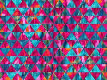 Colorful oil paint texture triangles seamless pattern design stock photography