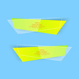 Modern Colorful Set Of Vector Banners For Your Royalty Free Stock Image