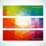 Modern Colorful Set Of Vector Banners For Your Royalty Free Stock Photography