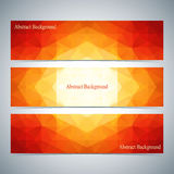 Modern Colorful Set Of Vector Banners For Your Design Stock Images