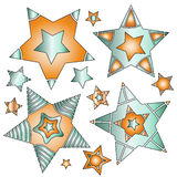 Modern colorful star collection Stock Photography