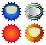 Modern colorful star labels. Design star stickers with holographic effect Royalty Free Stock Image