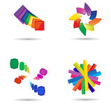 Modern colorful symbols Stock Photography