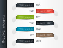 Modern colorful template business concept timeline arrows. Infographics layout with 7 steps, parts, options, stages, for. Presentation Royalty Free Stock Image
