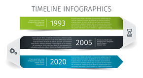 Modern colorful template business concept timeline ribbon arrow. Infographics layout with 3 steps, parts, options. Stages, for presentation Stock Photo