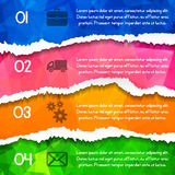 Modern colorful triangular style Business Infographics. Vector i Royalty Free Stock Images