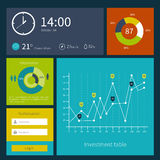 Modern colorful user interface vector layout in Royalty Free Stock Photography