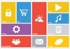 Modern colorful user interface vector Royalty Free Stock Image