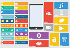 Modern colorful user interface vector Stock Photography