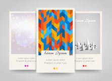 Modern colorful vertical banners. Abstract flyer set. Stock Photography
